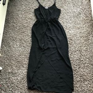 Lush High Low Black Maxi Dress size Small